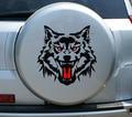 10 шт. 40*50 см Новый Стиль Забавный Злой Волк Глава Украшения Наклейки Автомобилей Всего Тела Наклейки