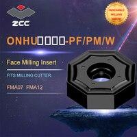 ZCC. CT ONHU torno pastilhas para indexável ferramenta de fresagem de perfil FMA07 FMA12 para faceamento indexável fresas