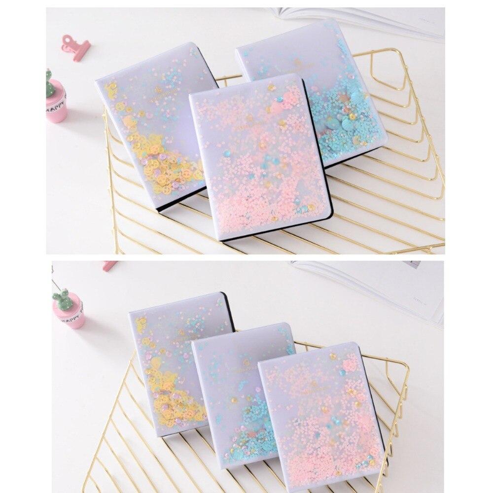 64 Pockets Mini Colorful Quicksand Sequin Photo Album For Fuji Instax Mini 7s 8 9 25 50 70 90 SP1 Camera Film or 3 inch Photo