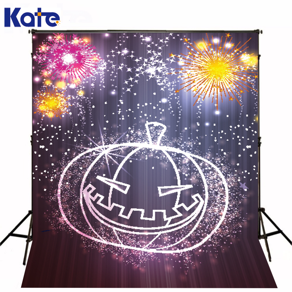 Photo Cartoon Pumpkin Colorful Fireworks Halloween Photo Backdrops Kate Background Backdrop kate photo background scenery