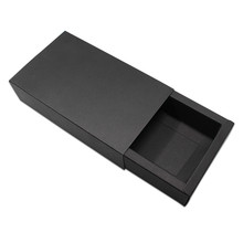 20Pcs/ Lot Black Kraft Paper CardBoard Package Drawer Boxes For Jewelry Handmade Small Gifts Pack Party DIY Craft Packaging Box(China)