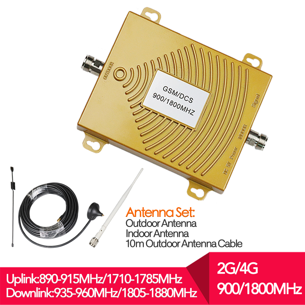 2G 4G GSM 900 LTE 1800 Dual Band Mobile Phone Signal Repeater dcs 4G LTE Cellular Booster Amplifier Antenna Set for mobile phone2G 4G GSM 900 LTE 1800 Dual Band Mobile Phone Signal Repeater dcs 4G LTE Cellular Booster Amplifier Antenna Set for mobile phone