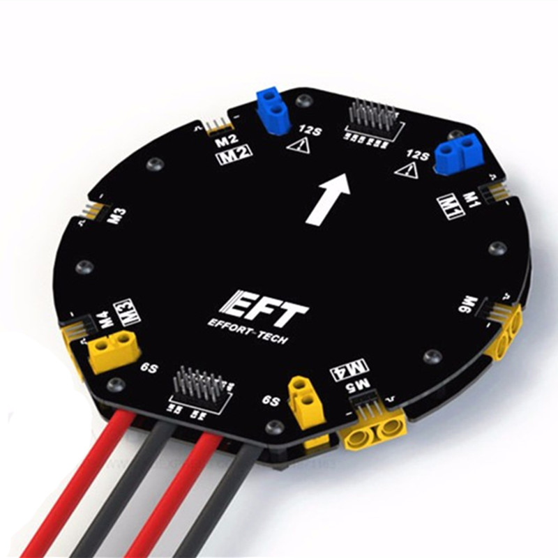 EFT 480A 12S Large Current Power Distribution Board PDB Board DIY drone agricultural