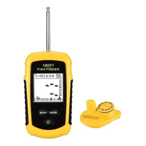ecobatimetro com display alarme sounder fishfinder 07 100 m