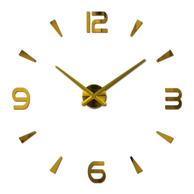 new wall clock reloj de pared quartz watch living room large decorative clocks modern horloge murale still life stickers