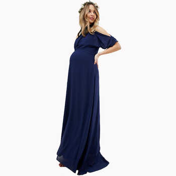 Lycra Maternity Maxi Dresses for Pregnant Women Clothes Long Pregnant Dress Evening Party Vestidos for Office Working Mommy - DISCOUNT ITEM  40% OFF All Category