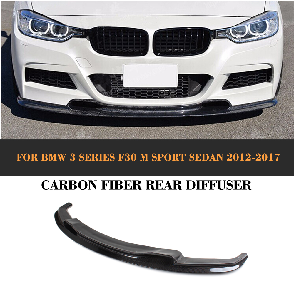 3 Series Carbon Fiber Front Bumper Lip Spoiler for BMW F30 M Sport Sedan 4 Door 2012-2016 D Style 320i 325i 328i 330i 335i replacement style for bmw 3 series 2013 2014 2015 2016 up 320i 328i 330i 335i 320 f30 carbon fiber side mirror cover