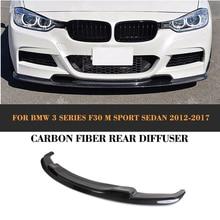 F30 3D styling carbon fiber car front bumper lip for BM W,auto carbon front spoiler lip for F30(fit F30 M tech bumper 2012UP)