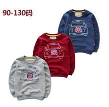 New Children Boys Sportswear Cartoon car printed Terry fleece pullover Kids Baby jumper Primer shirt wholesale