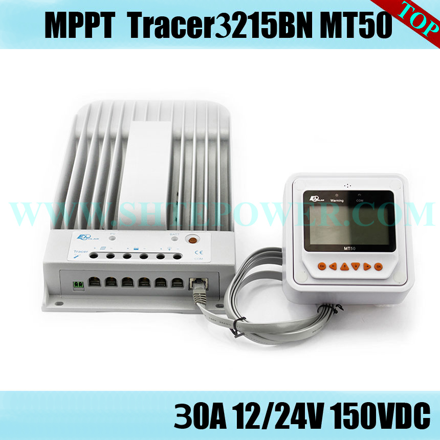 2 years warranty Tracer 3215BN 12v 24v automatic mppt solar charge controller 30a
