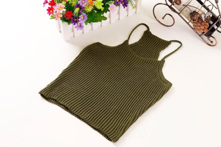 HTB1wG.BLFXXXXaGXpXXq6xXFXXXl - FREE SHIPPING Women's Short Cropped Knitted Tank Tops JKP308