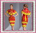 Red Chinese traditional Women's Qipao Cheongsam Wedding Evening Party Dress red bandage dress