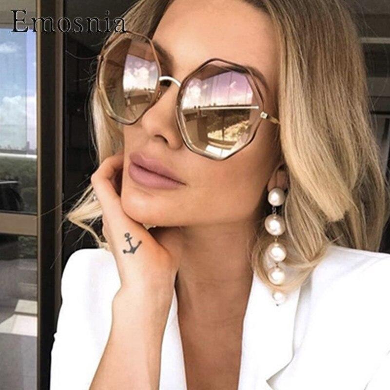 234510a10 Emosnia Modis Irregular óculos de Sol Oculos de sol feminino 2019 Moda  Óculos de Sol Das Mulheres Designer De Marca de Luxo Do Vintage UV400