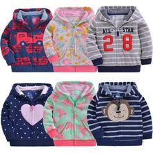 Cute Spring Kids Jacket stripe Hoodies Baby Boys Outerwear C