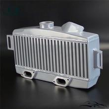 High Performance TMIC Top-Mount Intercooler For 2008-15 S*ubaru W*RX S*TI Silver/Black
