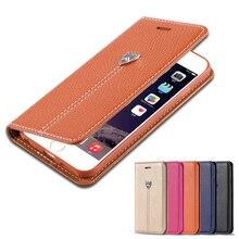 Floveme чехол для Apple iPhone 7 Plus iPhone 6 6 S плюс Роскошный магнитных флип кожаный бумажник для iPhone 6 7 Plus Чехол кобура Чехол