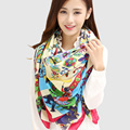 2016 Womens Winter Scarfs Fashionable Square Scarf Printed Bandana Brand Wraps Luxury Brand Winter Scarves Cotton Shawl Scarf