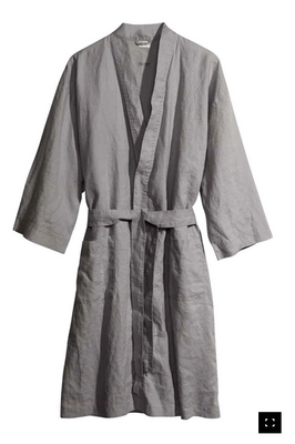 LinenAll womens sleep robes,100% pure linen water wash bathrobes for hm linen bathrobe hydroscopic breathable quality aesthetic