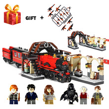 New Harry Potter Hogwarts Express Train Compatible with LegoING Harry Potter 75955 Building Blocks Bricks Toys for Children