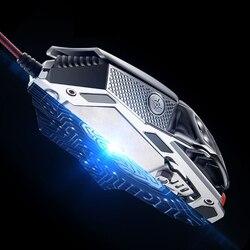 Freewolf dla V9 2400 dpi profesjonalne 6-klucz makro programowania myszy LED kabel maszyn podświetlenie gry mysz