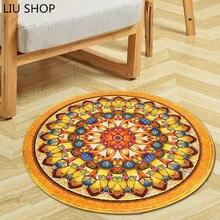 Blume Runde Teppich Durchmesser 60 80 100 120 150 CM Super Weichkorallen Fleece Wohnzimmer Kinder Schlafzimmer Ma