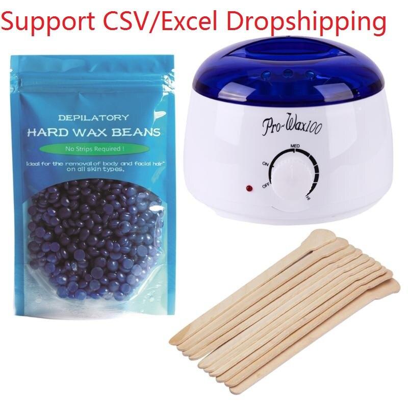 Depilation Beauty Hands 220-240V Electric <font><b>Hair</b></font> <font><b>Removal</b></font> <font><b>Bean</b></font> Wiping Sticks Hot <font><b>Wax</b></font> Warmer <font><b>Heater</b></font> Pot <font><b>Depilatory</b></font> <font><b>Set</b></font> Machine