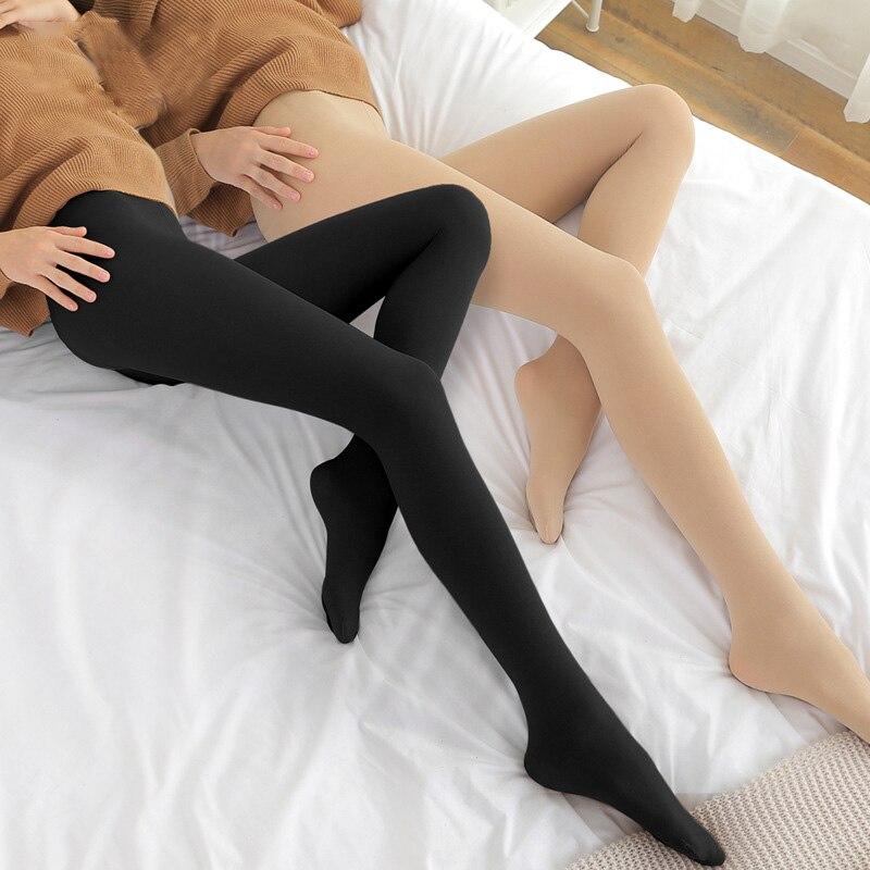 Women Ladies Girls Solid Stripe Winter Pantyhose Cotton Warm Tights Hosiery NEW