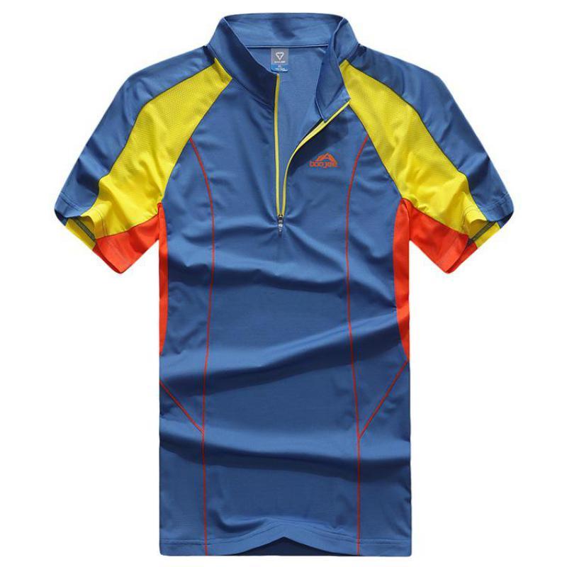 Men Outdoor Sport Hiking Climbing Fishing T Shirt Basketball Running Polo Shirt Soccer Camiseta Quick Dry Fitness Shirts