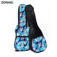 ZONAEL 21 23 26 Inch High Quality Ukelele Bag Ukulele Gig Case Bag Oxford Backpack Adjustable