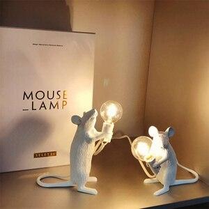 Image 5 - 3 style żywica lampa mysz krajem ameryki indywidualna kreatywna sypialnia nocna gabinet dekoracja biurka mała lampa stołowa myszy