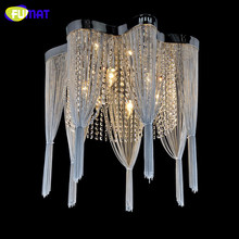 Buy crystal chandelier chains and get free shipping on aliexpress fumat k9 crystal chandelier empire silver chain suspension lustres lamp living room audiocablefo