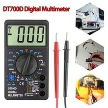 DT700D Large Screen Digital Multimeter Buzzer Overload protection Mini Square Wave Output voltmeter Ampere Ohm Tester цена