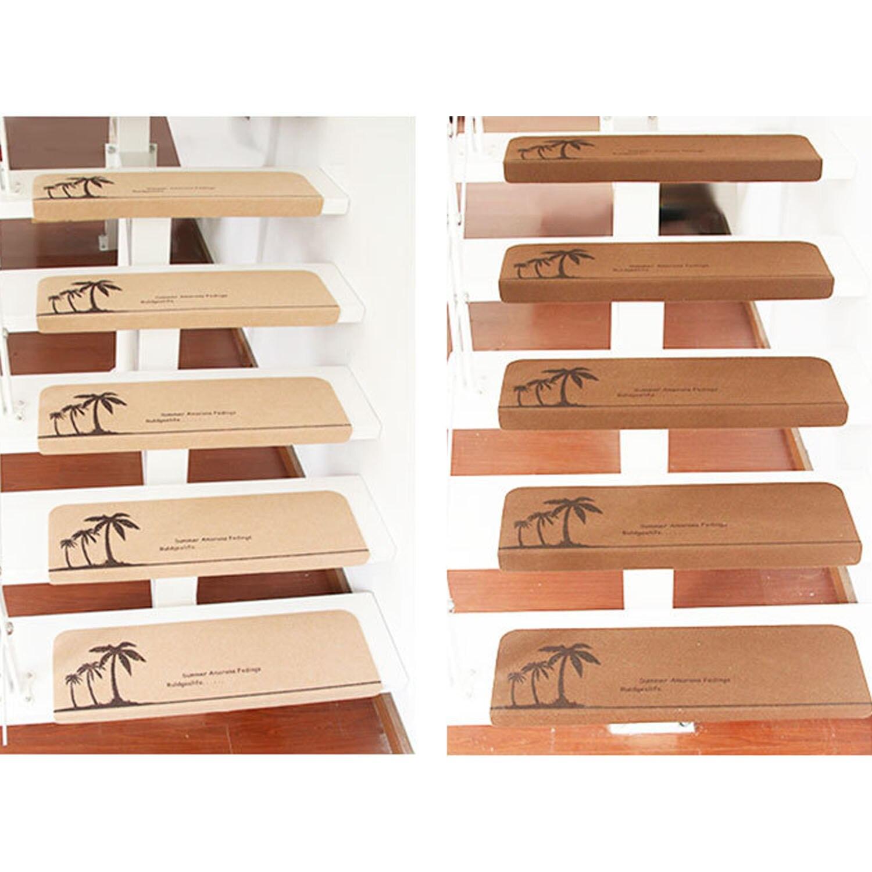 NC 13 pcs Anti-slip Autoadhesif Escalier Étape Escalier Marches Tapis Tapis Étage Escalier Tapis Couverture Tapis Maison accessoires