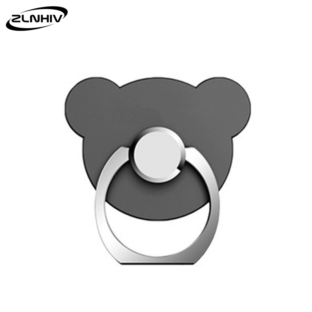 ZLNHIV Bear Holder Stand Phones Cell Finger Ring Mobile For Phone Support Telephone Accessories Mount Grip Round Cellphone
