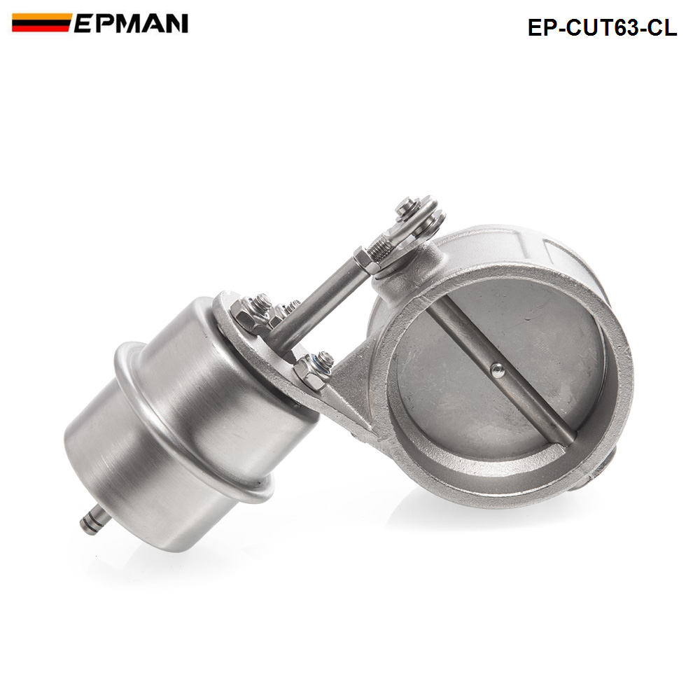 NEW Vacuum Activated Exhaust Cutout / Dump 63MM Close Style Pressure: About 1 BAR For BMW 3 E30 EP-CUT63-CL
