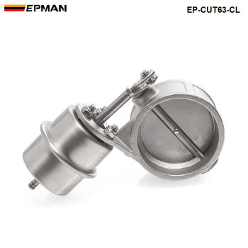 NEW Vacuum Activated Exhaust Cutout / Dump 63MM Close Style Pressure: about 1 BAR For BMW 3 E30 EP-CUT63-CL image