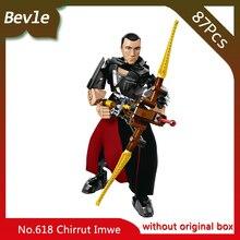 Bevle Store KSZ 618 87Pcs Star Wars Series Grand Theft Auto ChirrutImwe Model Building Blocks Bricks Children Toys  75524