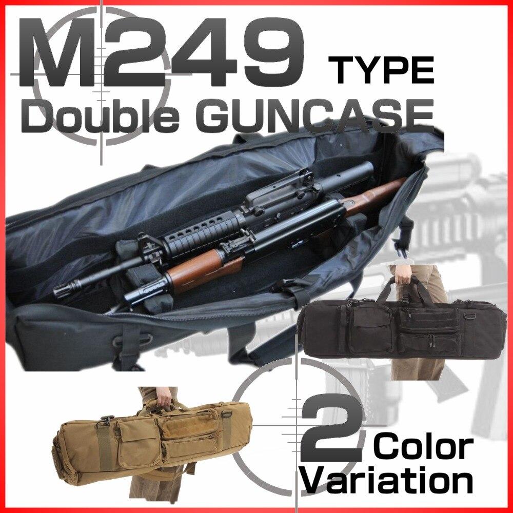 Abay M249 Airsoft sac pistolet tactique 100 cm sacs de transport militaire extérieur tir chasse Double fusil étui de Protection sac à dos