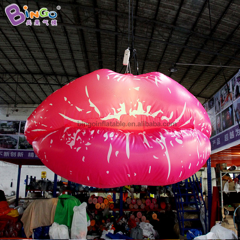 Customized 2m width giant inflatable lips inflatable kissing lips for party/club/event toys