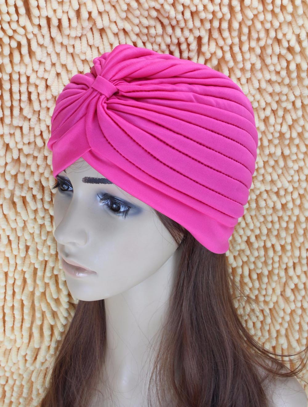 2016 New Fashion Women Turban Hat Bohemia 21 Solid Color Fold Beanies Female Simple Autumn Bonnet Indian Turban Hats For Women (29)