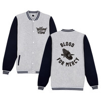 BTS Kpop Fashion Mercy Claw Winter Softshell Jacket Men Casual Baseball Jackets Funny Homme Hip Hop