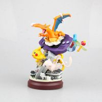 Anime 18.5CM monster Mew pikachu Charizard resin statue figure Action Toys for Collection Christmas Model Gift