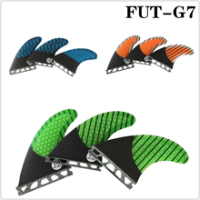 Wakeboard Future G7 Surfboard Fin Fiberglass Honeycomb Fins Carbon Fiber Orange/Green/Blue in Surfing New Design