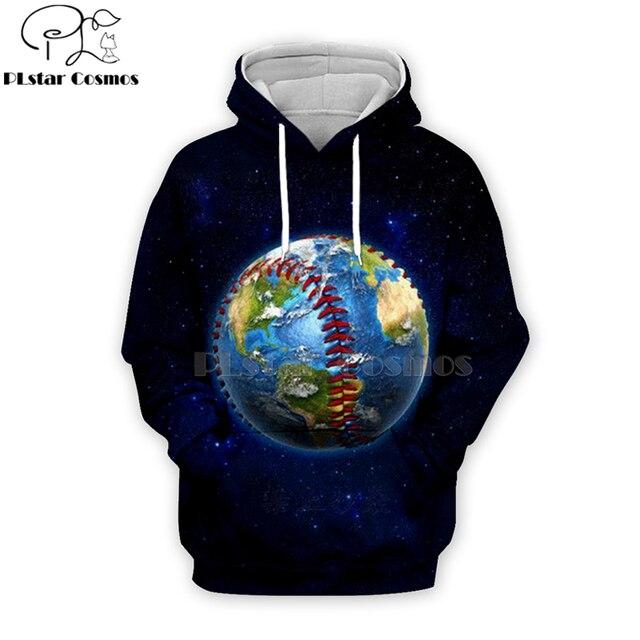 PLstar Cosmos sport baseball 3D Print Hoodies/Sweatshirt/Jacket/shirts Tees Men Women Galaxy Unisex streetwear Drop shipping-5