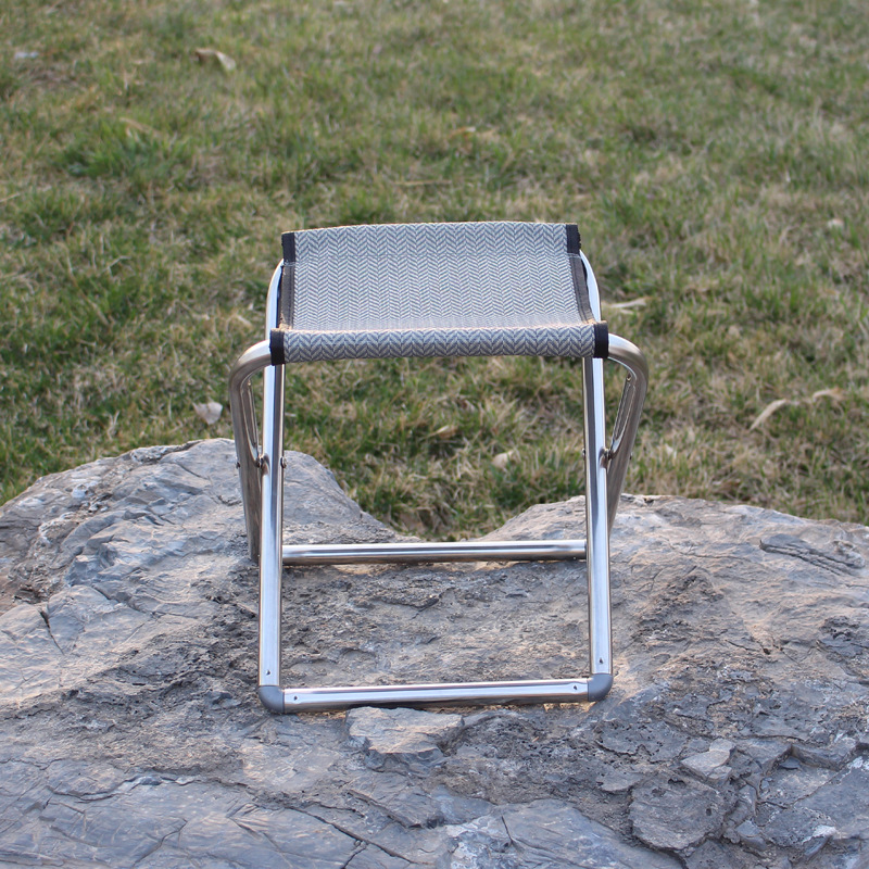 Outdoor Stainless steel Portable Folding Hiking Camping Stool Seat <font><b>Chair</b></font> Fishing Picnic <font><b>Chair</b></font> 28 cm * 27 cm * 30 cm
