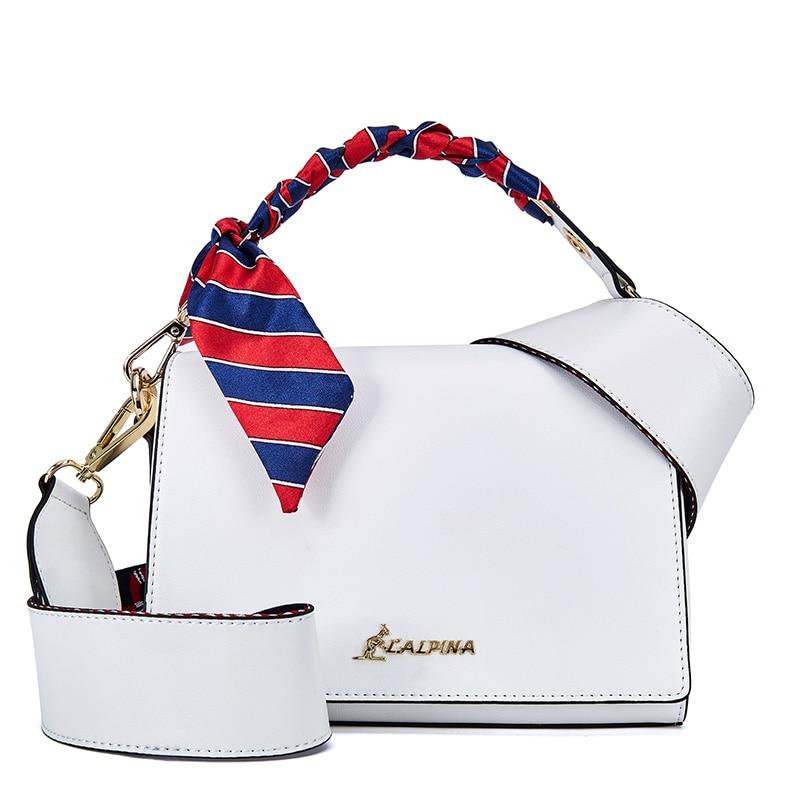 Bag Female 2018 New Wave Korean Version of The Wild Oblique Fashion Personality Leather Shoulder Bag Wide Shoulder Strap Handbag