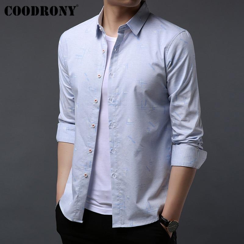 COODRONY Brand Men Shirt Autumn New Streetwear Fashion Casual Shirts Cotton Shirt Men Clothes Long Sleeve Camisa Masculina 96047