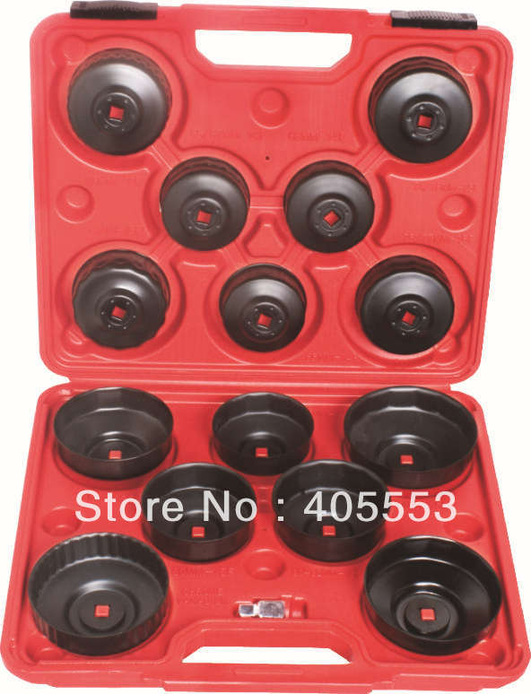 цена на 14 PIECES Cup Type Oil Filter Wrench Removal Puller Tool Kit Set Adaptor Garage New WT04A5053
