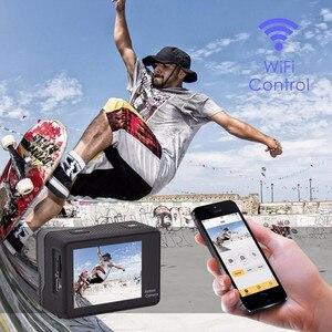 "Image 2 - 4K экшн камера WIFI 2,0 ""экран Full HD мини шлем Водонепроницаемая Спортивная DV камера Дистанционное управление"