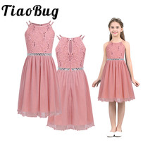 Petites Filles Robes Princess Lace Flower Girls Dresses Tulle Girls Pageant Dresses First Communion Dresses for Formal Party